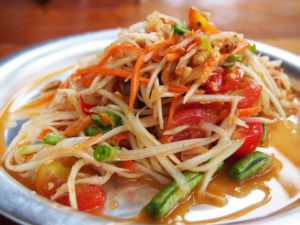 Food Spicy Thailand Papaya Salad Somtam